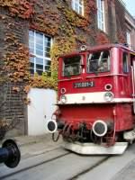 aw-dessau/82605/211-001-der-deutschen-reichsbahn-in 211 001 der Deutschen Reichsbahn in weinrot, ausgestellt im Aw Dessau September 2009