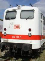 aw-dessau/82630/stirnansicht-110-511-der-db-in Stirnansicht 110 511 der DB in weiß, September 2009