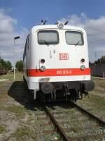 aw-dessau/82632/br-110-der-deutschen-bahn-in BR 110 der Deutschen Bahn in weiß im Aw Dessau, September 2009