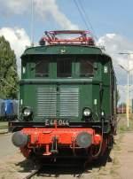 aw-dessau/82668/e-44-der-drg-im-aw E 44 der DRG im Aw Dessau zur Fahrzeugausstellung, September 2009