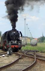 bw-stasfurt/83201/br-41-mit-volldampf-im-juni BR 41 mit Volldampf im Juni 2005 im Bw Staßfurt