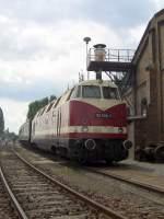 bw-stasfurt/83258/v-180-der-deutschen-reichsbahn-118 V 180 der Deutschen reichsbahn (118) im Bw Staßfurt, Juni 2005