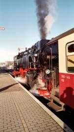 Harzquerbahn/113092/dampf-in-nordhausen-nord Dampf in Nordhausen Nord