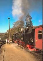 Harzquerbahn/81921/1990-im-bahnhof-elend 1990 im Bahnhof Elend