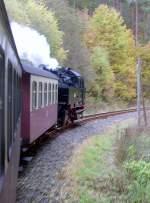 Selketalbahn/101001/mit-dampf-von-stiege-nach-alexisbad Mit Dampf von Stiege nach Alexisbad, Oktober 2010