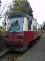 Selketalbahn/101005/tw-der-hsb-nach-niedersachswerfen-in TW DER hsb NACH NIEDERSACHSWERFEN IN STIEGE; OKTOBER 2010
