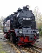 Selketalbahn/101112/99-6001-in-harzgerode-oktober-2010 99 6001 in Harzgerode, Oktober 2010