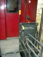 Selketalbahn/101201/detail-wagenuebergang-schmalspurzug-oktober-2010 Detail Wagenübergang Schmalspurzug, Oktober 2010