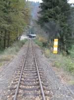 Selketalbahn/101596/streckengleis-nach-harzgerode-kurz-nach-dem Streckengleis nach Harzgerode kurz nach dem Abzweig