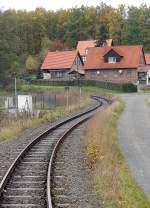 Selketalbahn/104073/kurz-vor-dem-endbahnhof-harzgerode Kurz vor dem Endbahnhof Harzgerode