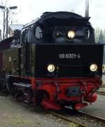 Selketalbahn/104239/99-6001-in-stiege 99 6001 in Stiege