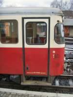 Selketalbahn/82005/detail-triebwagen-in-gernrode-dezember-2009 Detail Triebwagen in Gernrode, dezember 2009