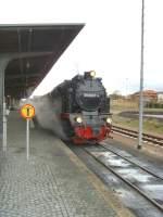 Selketalbahn/82030/dampfzug-nach-gernrode-und-weiter-hasselfelde dampfzug nach gernrode (und weiter Hasselfelde) im Bahnhof Quedlinburg, Dezember 2009