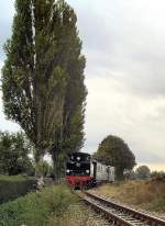 Dampfbetrieb/104328/zug-der-mansfelder-bergwerksbahn-bei-siersleben Zug der Mansfelder Bergwerksbahn bei Siersleben, 2005
